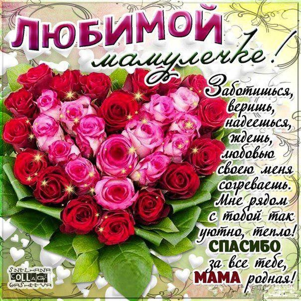 Красивое поздравление с днем рождения матери от сына 57