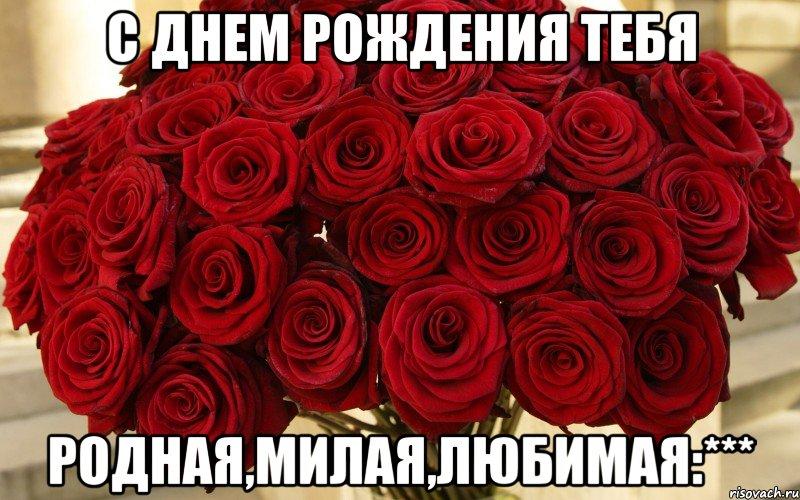 Поздравления с днём рождения для любимой